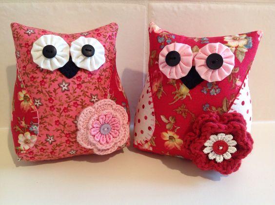 I Love making owls!! (Pattern - Julie Makes Owls, Calico Farm Designs)