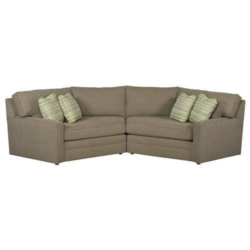 Kincaid furniture custom select upholstery custom two for Small sectional sofa with cuddler