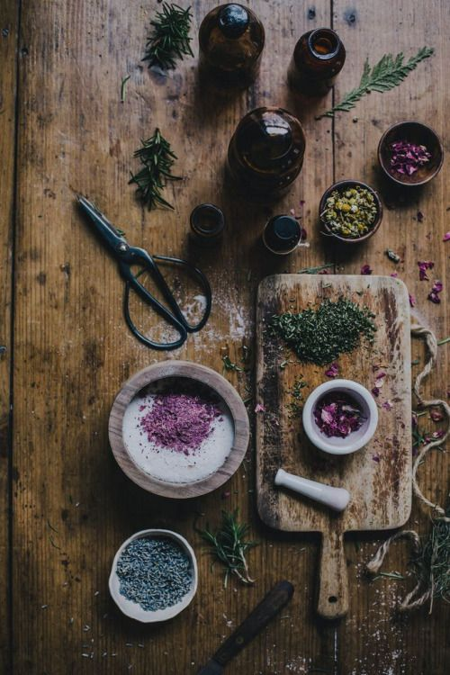 rustic Magic tea cooking rose Witch garden kitchen witchcraft magical lavender apothecary loose leaf tea divination witchy chamomile green witch tasseography tea leaf reading mortar and pestel