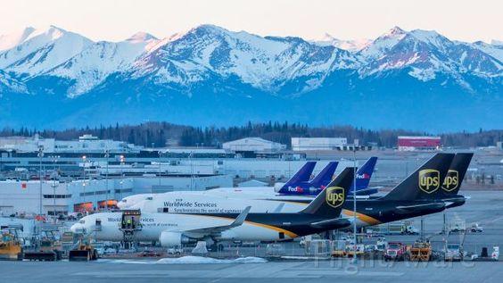 Morning cargo ramp at Anchorage PANC