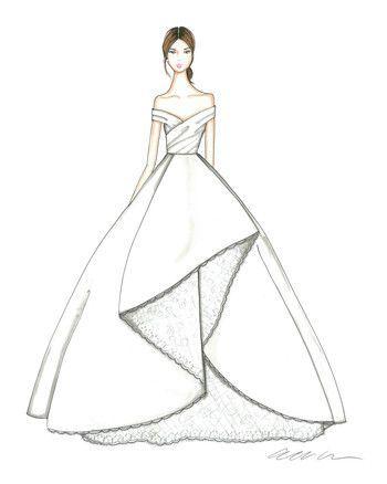 Allison Webb Wedding Dress Sketch Fashion Drawing Dresses Fashion Illustration Sketches Dresses Dress Design Drawing