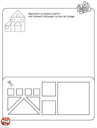 Reconstituer la maison id es pour l 39 cole pinterest collage et renc - Decoupage maison a imprimer ...