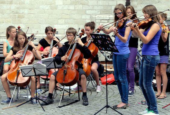 Children's orchestra in Leuven.
