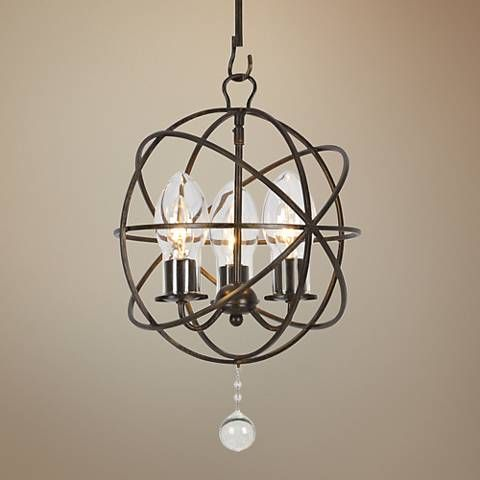 Solaris 12 W English Bronze 3 Light Outdoor Mini Chandelier 40m95 Lamps Plus Mini Chandelier Chandelier Outdoor Lighting