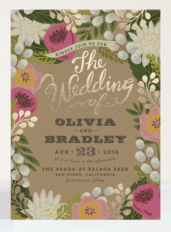 Pretty sure it doesn't get much better than this! Love Minted stationery. #wedding #invitations #foil http://www.minted.com/product/foil-pressed-wedding-invitations/MIN-OY5-IFS/floral-canopy?org=photo: