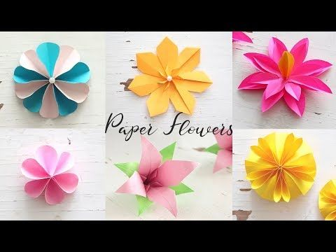 Youtube With Images Paper Flowers Diy Paper Flowers Diy Easy