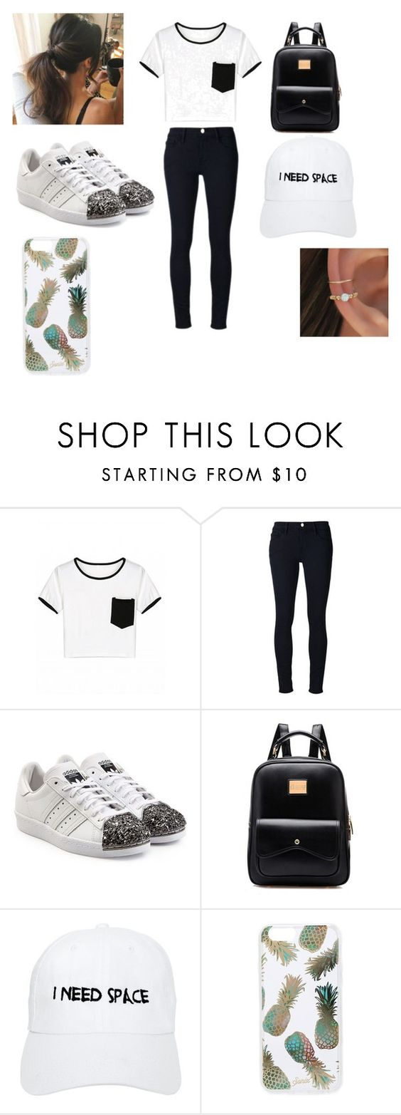 """ME"" by jadamckenzie20 ❤ liked on Polyvore featuring Frame Denim, adidas Originals, NASASEASONS and Sonix"