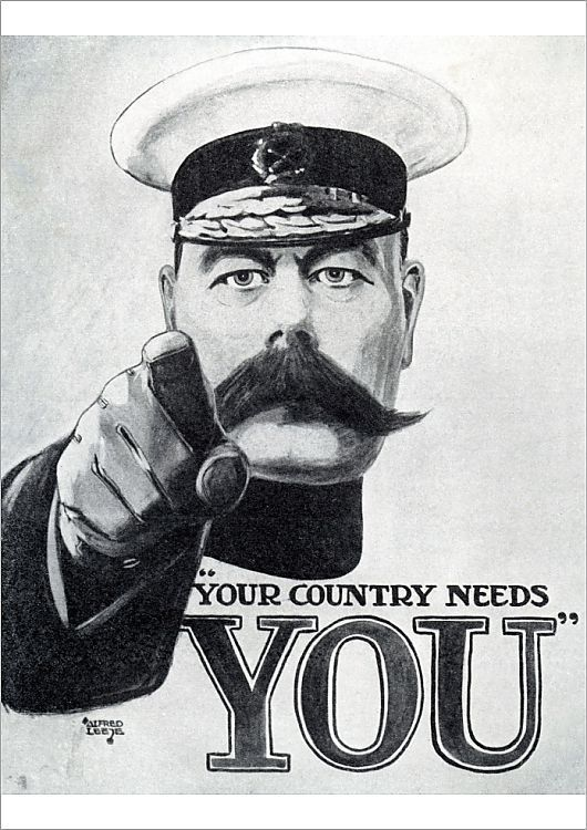 WAR RECRUITMENT ARMY MILITARY KITCHENER UK Poster Vintage Military Canvas art