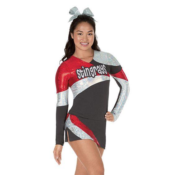 Cheerleader wearing a Premier Package uniform