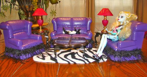 monster high barbie custom ooak living room furniture set