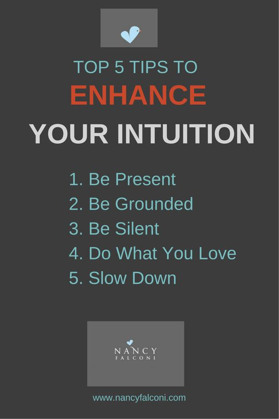 Top 5 ways to enhance your intuition http://nancyfalconi.com