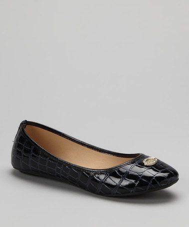 Love this Blue Crocodile Ballet Flat on #zulily! #zulilyfinds