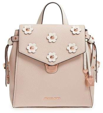 MICHAEL Michael Kors Small Flower Embellished Leather