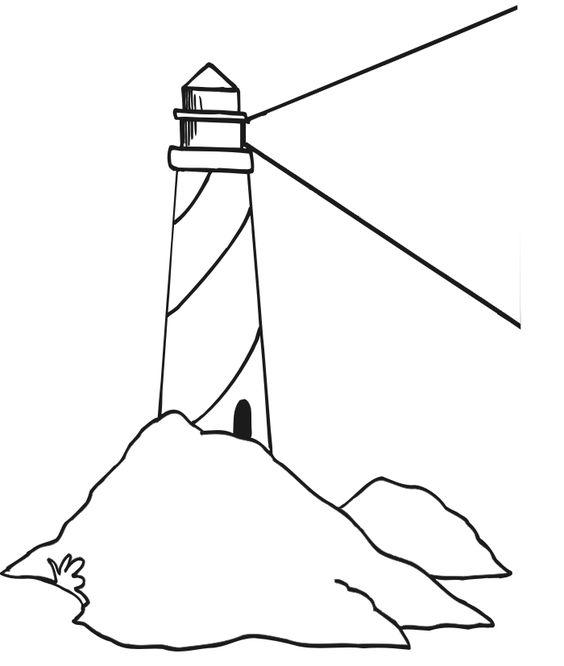 Lighthouse Coloring Page Miakenasnet