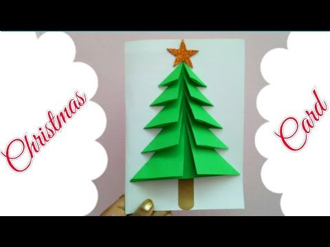 Diy Christmas Card Making Xmas Card For Kids Christmas Tree Card Simple Easy Greeting Card Cards Y Xmas Cards Kids Xmas Card Craft Christmas Cards Handmade