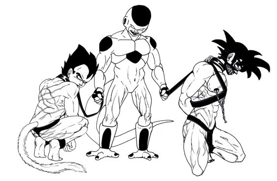 Frieza and his Pets Inked by Teentitansfan2