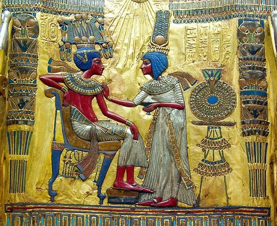 King Tutankhamun and his Queen Ankhesenamun