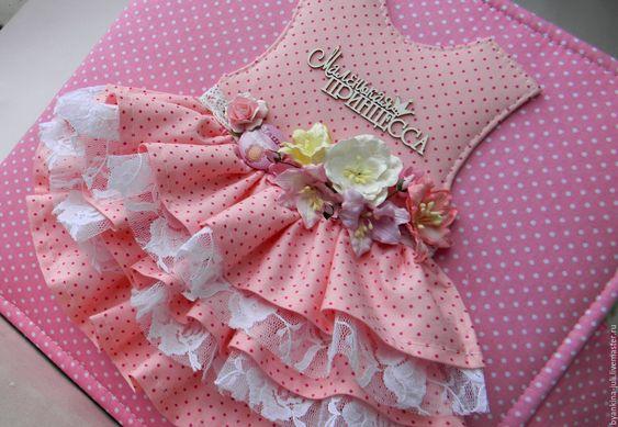 Купить Большой альбом для Маленькой принцессы. - розовый, большой альбом, переплет, заготовка для альбома, переплет-заготовка