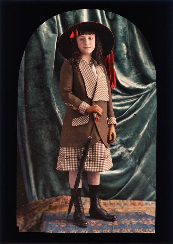 Jean-Baptiste Tournassoud - Juliette, Daughter of the Photographer, ca. 1910.
