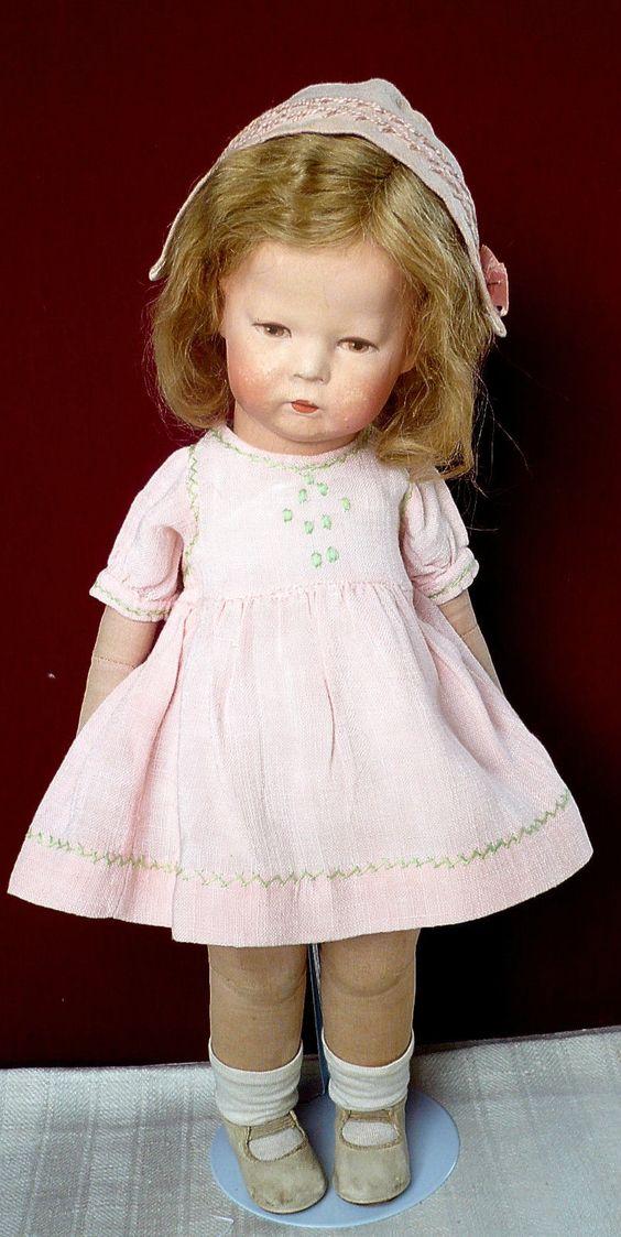 Käthe Kruse pop Dorothee Puppe1H stofkop draaibaar zeer zeldzame originele staat 1937 | eBay