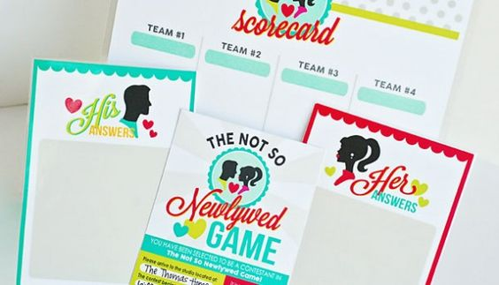 The Not So Newlywed game date night for couples OR in a group-and all the printables are included!!