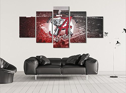 Alabama Crimson Tide 5 Piece Modern Canvas Painting Wall Art Picture For Home Decoration Check Th Home Decor Modern Canvas Painting Wall Art Canvas Painting