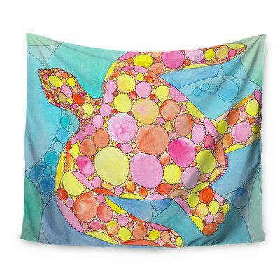 KESS InHouse Circle Turtle by Catherine Holcombe Wall Tapestry Size: