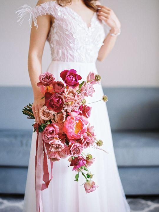 Pink Vibrant Wedding Bouquet Flower Stories Konsultantka I Florystka Slubna Dresses Bridesmaid Dresses Wedding Dresses