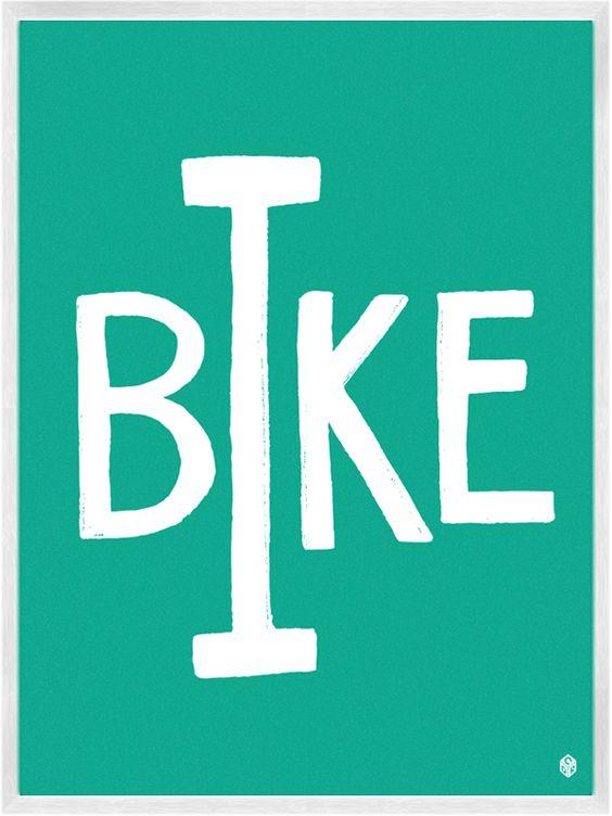 I Bike Print | My Little Underground