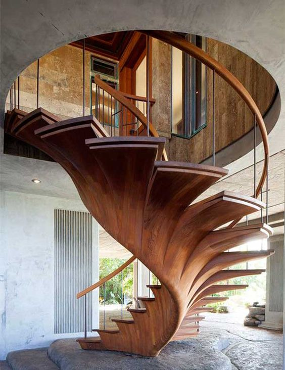 5 Contemporary Wooden Staircase Designs for Home Interiors