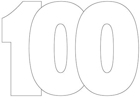 100 Shaped Card Templates Printable Free Printable Numbers Templates