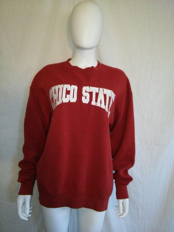 CHICO STATE  Sweatshirt College University by ATELIERVINTAGESHOP