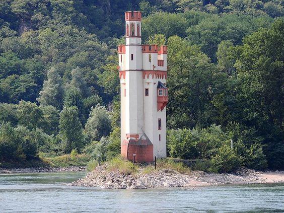 Bingen (Rheinland-Pfalz) - Mouse Tower / Mäuseturm / Tour aux Souris