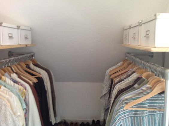 Pipe rack for closet #KeeKlamp