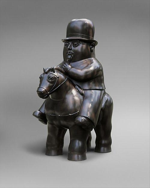Fernando Botero - Man on horseback, 1984