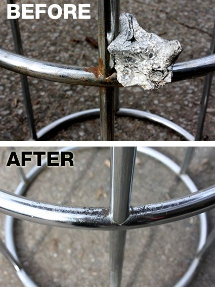 how to clean rusty metal gas tank