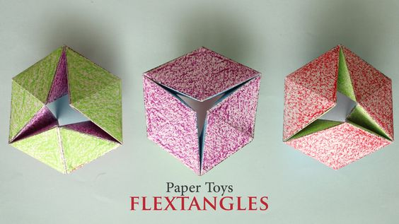 Check this video on how to make this flashy Paper Toy : Flextangles Print Template Here : https://www.facebook.com/ArtAllTheWay/photos/a.1311537328862648.107...