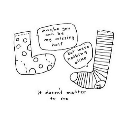 And that, my friends, is why my socks never match!