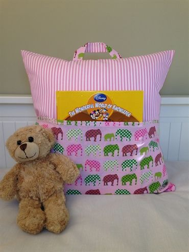 Girls Storytime Cushion with Pocket