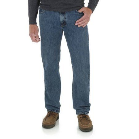 Wrangler Men&39s Straight Fit Jean Size: 38 x 30 Blue