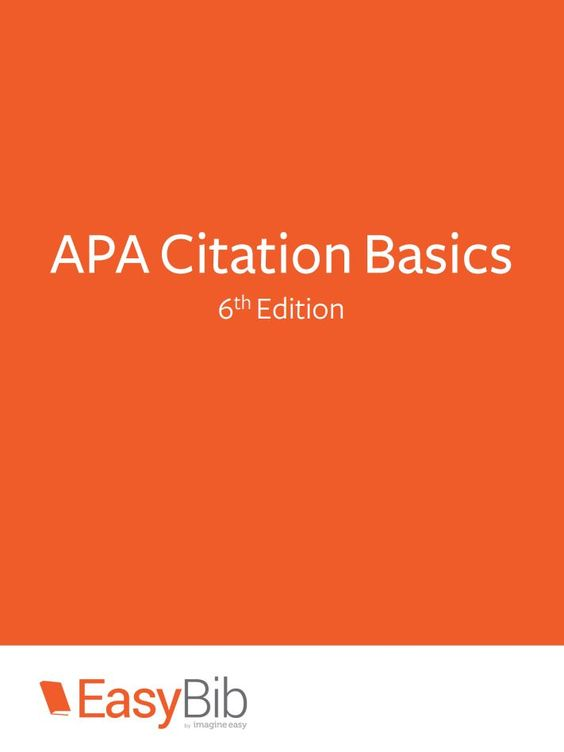 apa 6th edition case study citation