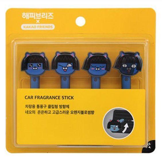 Kakao Talk Friends Cute Characters Car Vent Clip Air Freshener Stick Neo…