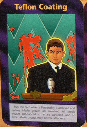 Illuminati card game, teflon coating