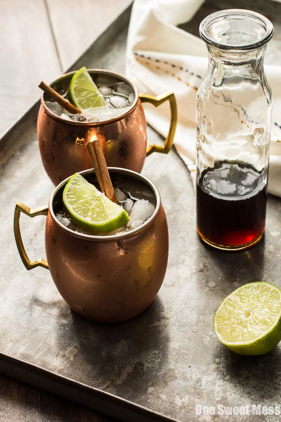 The Mid-Winter Mule: This bourbon-infused cocktail combines fruity Pimm's No.1, ginger beer, and homemade cinnamon simple syrup.: