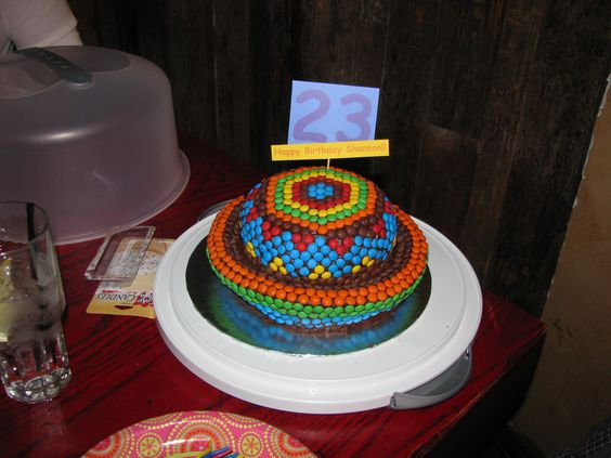 It was supposed to be a Sombrero....ended up more like a sunhat!! Buddy on Cake Boss makes carving cakes look easy...its not!