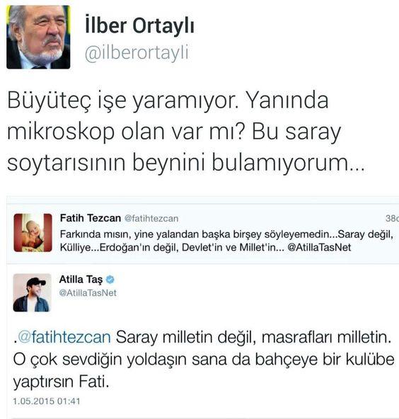 Hocam büyütecte fayda etmez bu @fatihtezcan denilen saray soytarisina