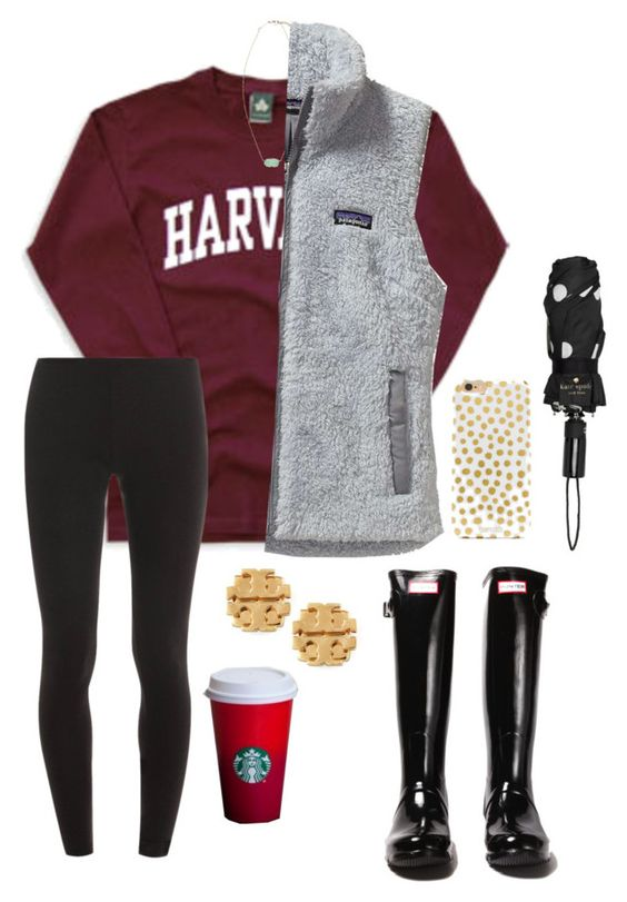 can't wait for thanksgiving break read d:) by lalalanie on Polyvore featuring polyvore, fashion, style, Patagonia, Splendid, Hunter, Tory Burch, Kendra Scott, Kate Spade and BaubleBar