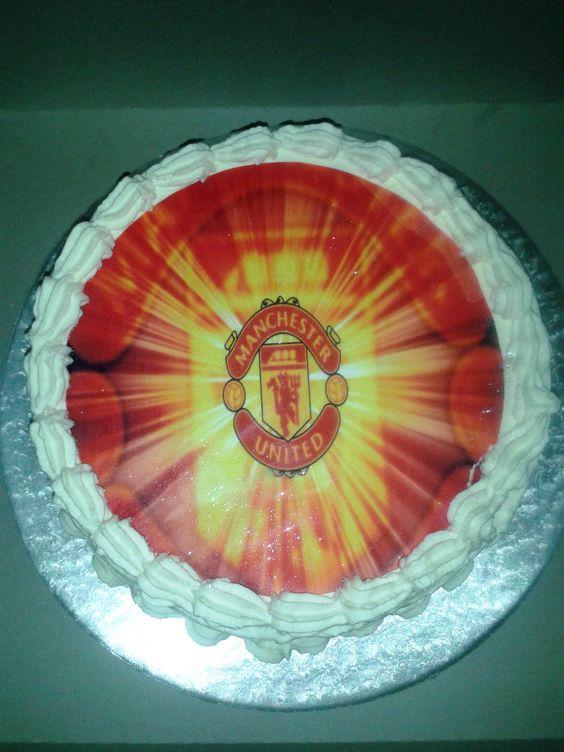 Man United Fresh Cream Cake