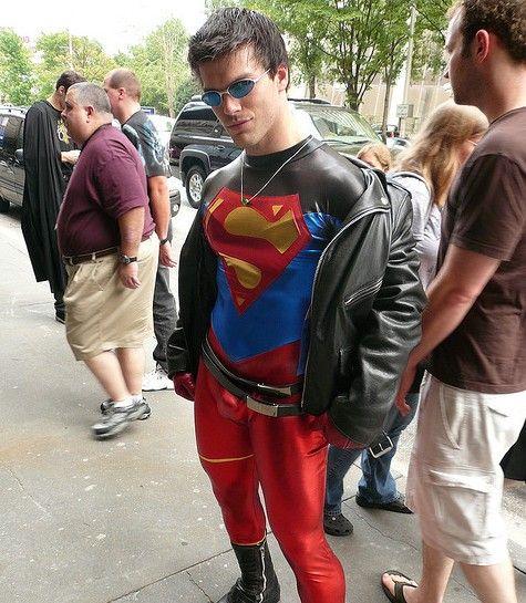 naked fat guy superman