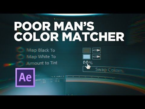 5 Poor Man S Color Matcher Effect After Effects Youtube In 2020 After Effects After Effect Tutorial Tutorial